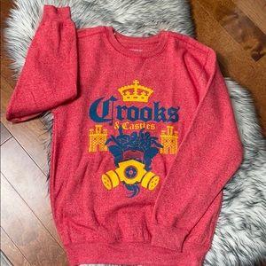 Crooks &Castle Crewneck New Crown Sweatshirt NWOT